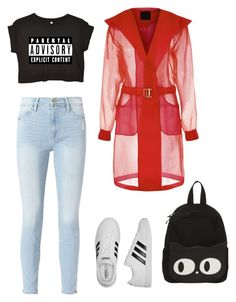 """#74"" by cecilie-monica-nrskov-pedersen on Polyvore featuring Frame and adidas"