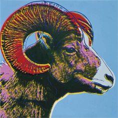 Bighorn Ram (Endangered Species) - Andy Warhol, 1983, Wikipaintings