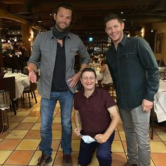 cioppinosyaletown #arrivederci till next time my friends #health #happiness #friendsforever #seeyousoon Jared And Jensen, Jensen Ackles, Supernatural Films, See You Soon, Disney Marvel, Sam Winchester, Jared Padalecki, Friends Forever, My Friend