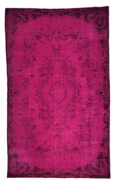 fuchsia over dye rug