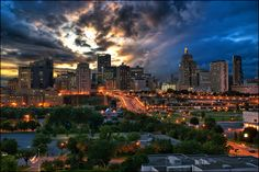 St. Paul, MN.  5 minutes away from sister city Minneapolis, but couldn't be MORE different.