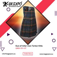 Rose Ancient Tartan Scottish 8 Yard Bias Apron Tartan KILT 16 Oz Acrylic