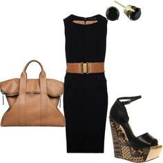 black & brown..classic style with a twist! <3 this look