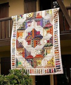 Log Cabin Quilt.My most favorite