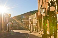 The sun rises over the historic mining town of Central City - Central City, CO