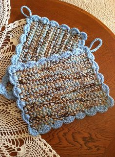 Crochet Pot Holders set of 2 by rosewymercreations on Etsy, $15.00