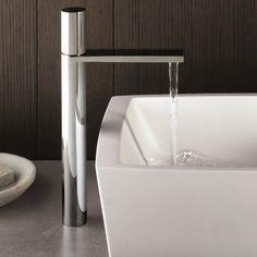 Fantini Waschtischmischer Milano| hoher Auslauf | Franco Sargiani | in progressiver oder traditioneller Ausführung | zwei Oberflächen wählbar