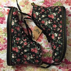 NWT floral doc martens booties Brand new with tag! Dr. Martens Shoes Ankle Boots & Booties