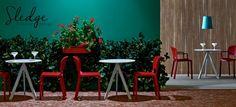 Mobilier design de bar restaurant, mobilier design, mobilier pedrali , mobilier chr, mobilier de cafés , chaises design, table de bar, tables de restaurant  www.sledge.fr