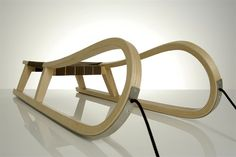 PEAK Sled: Made of solid, steam-bent ash wood with stainless steel runners. $460