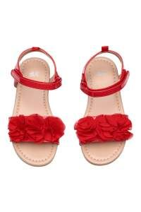 aea2d3838a6a6a Red. Sandals in faux leather with a decorative appliqué at front ...
