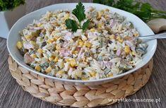 Sałatka z kurczakiem wędzonym - WSZYSTKO SMACZNE Nom Nom, Grains, Salads, Rice, Vegetables, Recipes, Food, Pesto, Diet