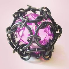#bradschainmail #chainmail #dice #purple #d20 #keychain #pendant #black #cage http://ift.tt/1UhygEl by br.creations http://ift.tt/1T55DVR