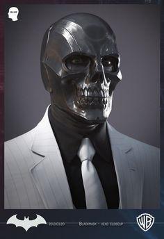 Blackmask - Batman Arkham Origins - Close Up by Daniel Alexander Garcia Batman Arkham Origins, Black Mask Batman, Black Mask 2, Batman Universe, Comics Universe, Batman Origin, Roman Sionis, Dc Comics, Gotham Villains