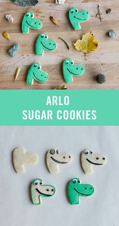 Gobble up these tasty and simple sugar cookies inspired by Arlo from The Good Dinosaur! Recipe on Disney Family. | [ http://family.disney.com/recipe/arlo-sugar-cookies ]