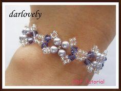 Swarovski Purple Pearl Bracelet  PDF Tutorial on Handmade Artists' Shop