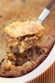Torta crumble de pera
