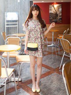 Cute Floral Dress Korean Fashion