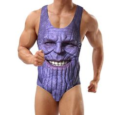 He says 'The hardest choices require the strongest wills', and that's pretty much what it's come down to when I contemplate making this purchase. Do I buy a Thanos one-piece swimsuit and fee. Unique Swimsuits, Men's Swimsuits, One Piece Swimwear, One Piece Swimsuit, Cheap Bridal Dresses, Wedding Dresses, One Piece Man, Red And White Weddings, Fashion Brands