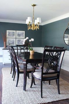 The dining room is one of the most traditional spaces in the home. These 100 dining room decorating ideas are a must have resource to help transform your room. #DiningRoom #HomeDecor