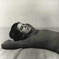 transistoradio:  Peter Hujar (1934-1987), Susan Sontag (1975), gelatin silver print, 37.1 × 37.1 cm. Via Artsy.