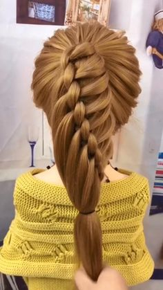 Easy Hairstyles For Long Hair, Braids For Long Hair, Little Girl Hairstyles, Cute Hairstyles, Braided Hairstyles, Braid Hair, Short Hairstyles For Girls, Heatless Hairstyles, Hairstyles Videos