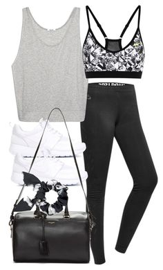 """Untitled #3991"" by amm-xo ❤ liked on Polyvore featuring NIKE, Helmut Lang, Yves Saint Laurent and Marc by Marc Jacobs"