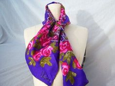 70s VERA purple East Indian Scarf / psychedelic by dahlilafound, $36.00
