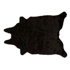 Mina Victory FauxFur Freeform Rug (€270) ❤ liked on Polyvore featuring home, rugs, black, fake fur rugs, faux fur rug, black area rug, black faux fur rug and black rugs