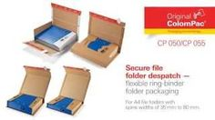 Ring-binder folder packaging 35 - 80 mm thick by #ColomPac®. • #Dinkhauser Kartonagen Vertriebs GmbH, #Selbstklebeverschluss, #Aufreißfaden, #Versandverpackung, #Wellpappe, #Ordner