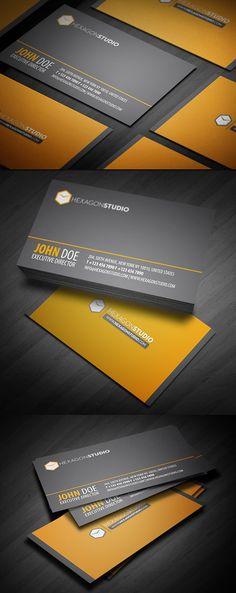 Business cards los angeles design letterpress design pinterest hexagon studio quick response business card reheart Images