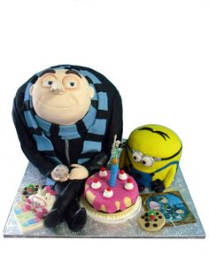 Despicable Me cake- Libby's 3D Sculpted Cakes