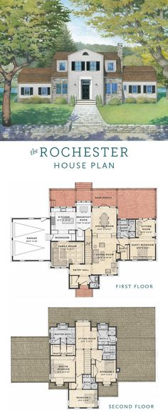 Rochester is a house plan that brings classical architectural balance to a colonial-style house design. This sophisticated combination of a siding-and-stone exterior, gambrel roof and shuttered windows make the Rochester the perfect choice for a countryside setting or quiet, suburban neighborhood. #TBHH http://www.tbhh.com