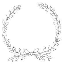Image result for flower half wreath template