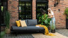 Garden Furniture, Couch, Yellow, Home Decor, Outdoor Garden Furniture, Settee, Decoration Home, Sofa, Room Decor