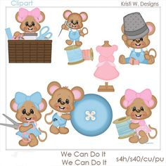 DIGITAL SCRAPBOOKING CLIPART  We Can Do It by BoxerScraps on Etsy
