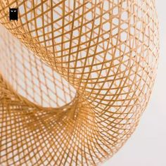 Bamboo Wicker Rattan Wave Shade Pendant Light Fixture Rustic Vintage Japanese Lamp Suspension Home Indoor Dining Table Room Rattan Pendant Light, Pendant Light Fixtures, Pendant Lamp, Pendant Lighting, Style Du Japon, Rattan Lamp, Japanese Lamps, Cheap Pendant Lights, Rustic Lamps