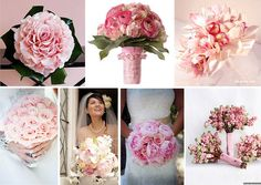 Pink Wedding Bouquets. I make wedding bouquets out of life like artificial flowers and I can ship them anywhere in the U.S.