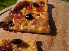 Tastiest one yet... Black forest ham and black olives #pizza #food #foodporn #yummy #love #dinner #salsa #recipe