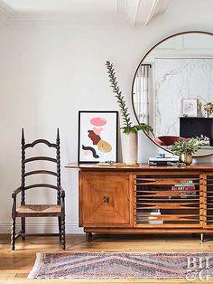 Visit Hilary Duff& Retro-Glam Home - Hilary Duff, Midcentury Eclectic, Eclectic Decor, My Living Room, Living Room Decor, Bedroom Decor, Dining Room, Decor Interior Design, Interior Decorating