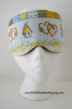 Travel, Sleep, Eye Mask ~ Light Blocking in a 100% Baby Blue Printed Fabric ~ READY TO SHIP by ALittleXtraSomething on Etsy