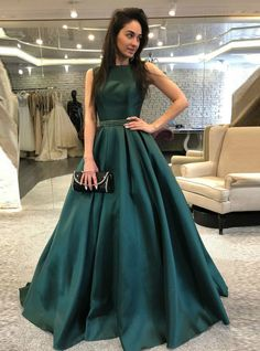 Dark Green Backless Beaded Backless Satin Prom Dresses sold by lass. Shop more products from lass on Storenvy, the home of independent small businesses all over the world.