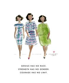 Hidden Figures Print by Sophie and Lili