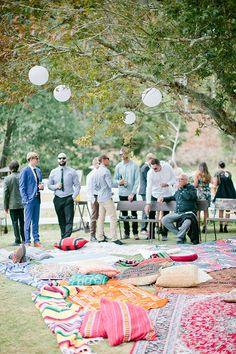 Outdoor party set up - PintoPin Wedding Seating, Wedding Venues, Wedding Reception, Space Wedding, Wedding Table, Backyard Layout, Backyard Ideas, Backyard Patio, Patio Ideas