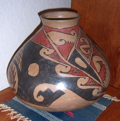 """CASAS GRANDE OLLA Vtg Hand Crafted Jar Pot Vessel -Lg 12""""x13""""- Owned since 80's"""