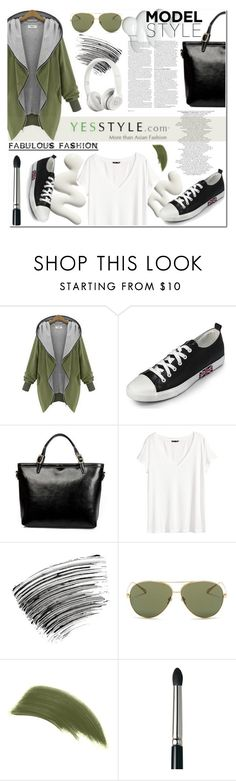 """""""Ciber Monday-Yesstyle"""" by angel-a-m ❤ liked on Polyvore featuring Eloqueen, yeswalker, LineShow, H&M, Bobbi Brown Cosmetics, ASOS, Beats by Dr. Dre, Linda Farrow, By Terry and Laura Mercier"""