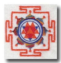 Durga Yantra:  Durga was created as a warrior goddess to fight the demon Mahisashur who could not be defeated by god or man. Allegorically, she slays the damaging misconceptions we hold, offering us clarity of mind and spirit. The Durga Yantra assists in the focus upon the qualities of Durga, facilitating strength, feminine energy, creative consciousness.