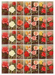 Valentine Day Crafts, Valentine Ideas, Valentines, Etsy Crafts, Art Crafts, Scrapbook Designs, Flower Images, Printable Vintage, Miniatures