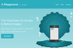 The Clambake for Emails & Retina Images - Add retina-ready graphics, like your logo, to a responsive email. Html Email Design, Responsive Email, Email Templates, Like You, Ads, Graphics, Logos, Graphic Design, Logo
