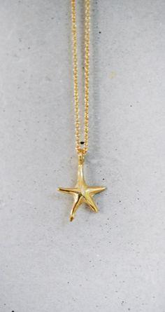 Gold Starfish Necklace - Collar estrella de mar en oro